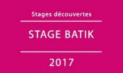 2017 / Stage BATIK